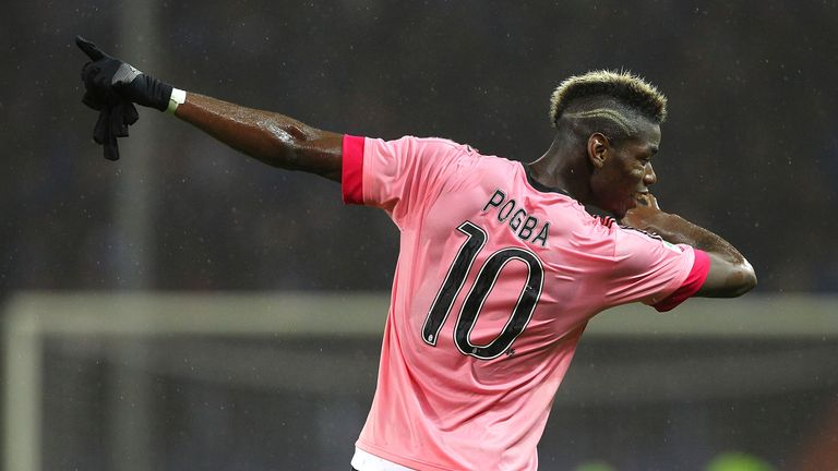Paul Pogba has used his 'dab' celebration since his time at Juventus