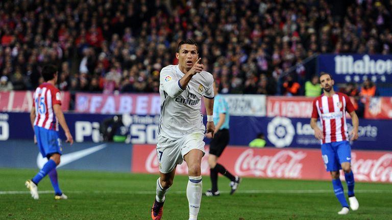 Ronaldo scored 35 goals for Real Madrid in 34 La Liga games from November 2015 to November 2016