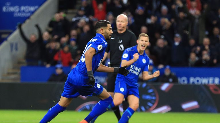 The British core at Leicester City helped Riyad Mahrez adapt to life in England