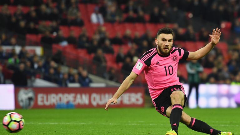 Robert Snodgrass went close for Scotland but could not find the breakthrough
