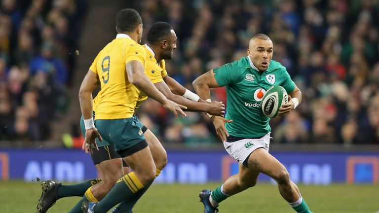 Simon Zebo was introduced early on for Rob Kearney