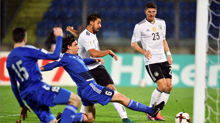 Germany thrashed San Marino 8-0 in World Cup qualifying in November