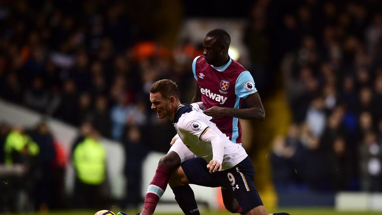 Vincent Janssen (L) struggled to make an impact for Tottenham