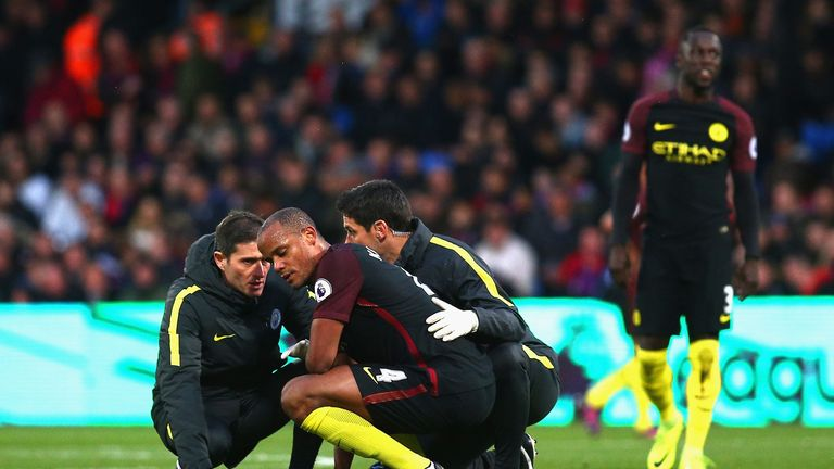 Vincent Kompany continues to struggle with injuries at Man City