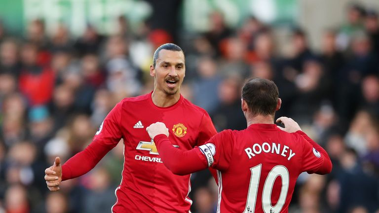 Wayne Rooney is set to follow Zlatan Ibrahimovic (left) to the MLS