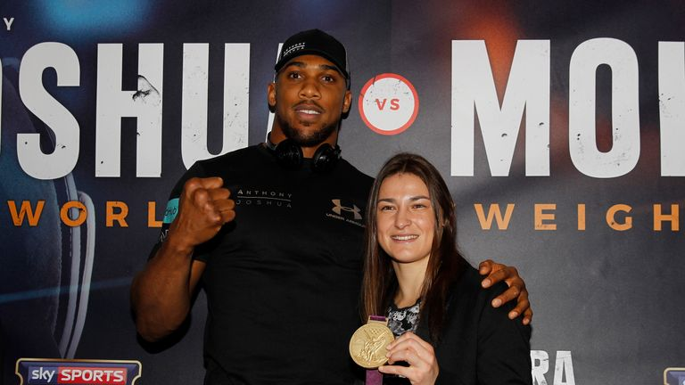 Anthony Joshua has also added a world title to his Olympic gold