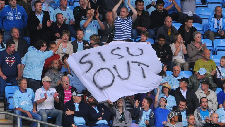 Coventry fans have continually protested against owners SISU