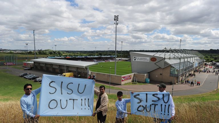 Coventry fans protested the move to Sixfield Stadium back in 2013