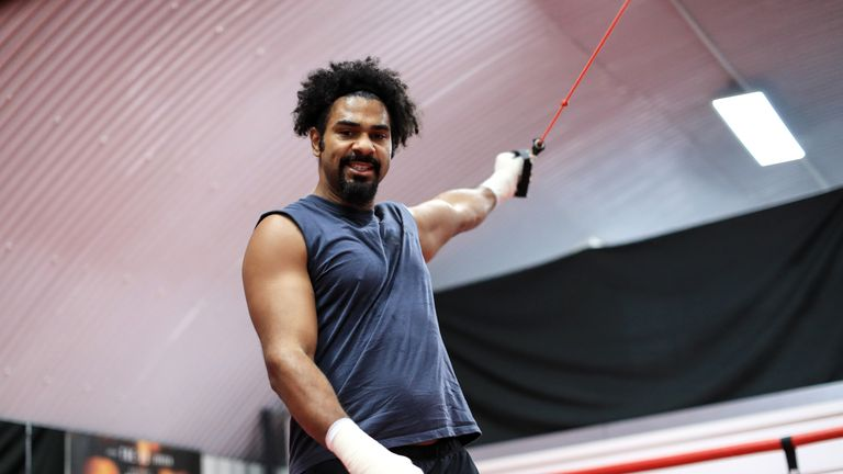 Haye has been sharpening his ring skills in Miami during the festive season
