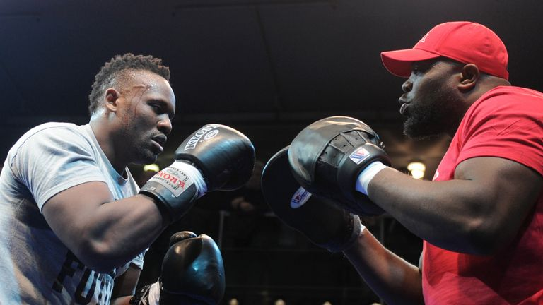 Trainer Don Charles has guided Chisora for much of his career