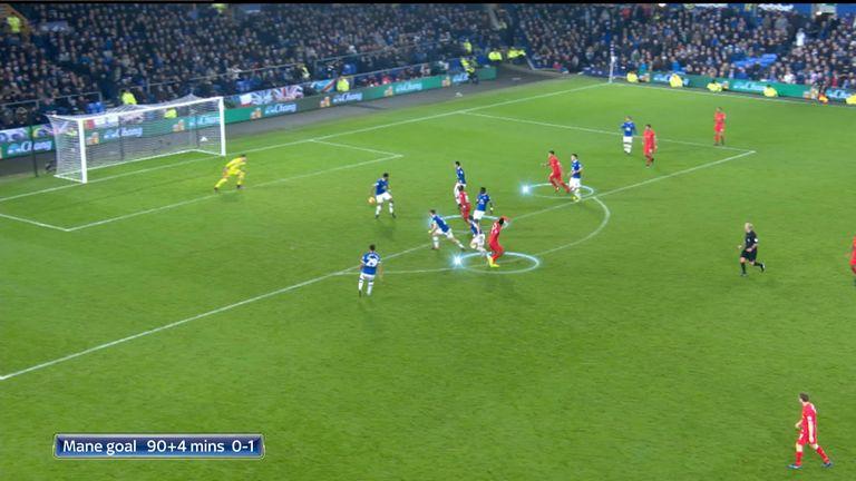 Sadio Mane's goal highlighted how narrow the Liverpool forwards play