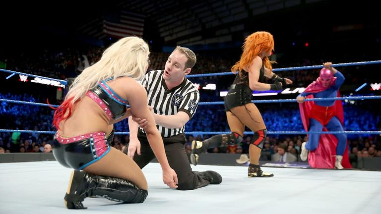 La Luchadora scuppered Becky Lynch on Smackdown Live