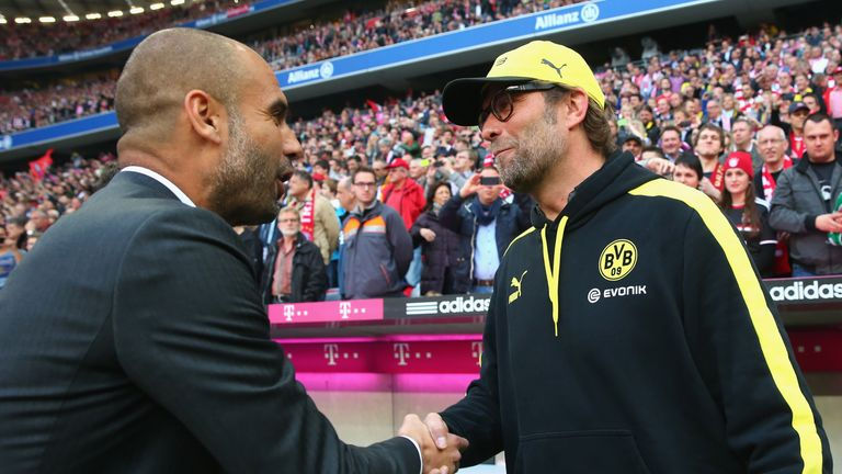 Jurgen Klopp and Pep Guardiola will meet for the first time in the Premier League on New Year's Eve at Anfield