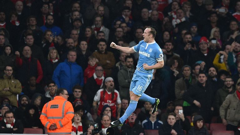 Charlie Adam gave Stoke the lead against Arsenal at the weekend