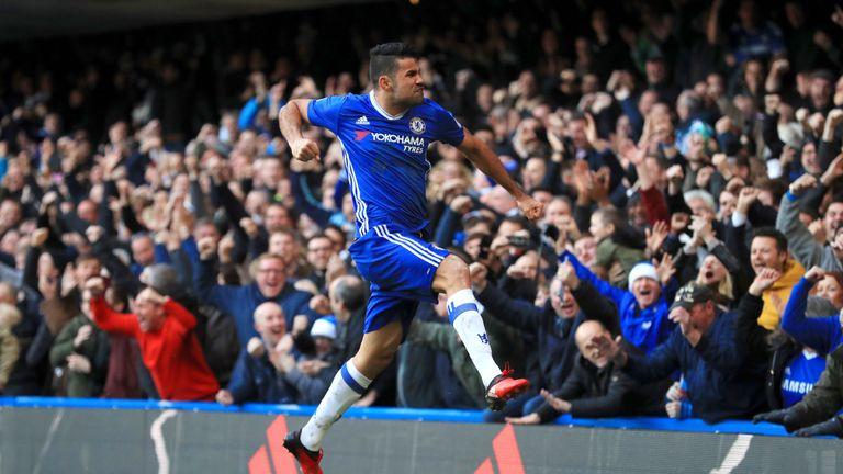Chelsea's Diego Costa is the Premier League's top scorer this season