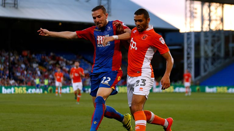 Crystal Palace's Jordon Mutch is set to join Reading on loan