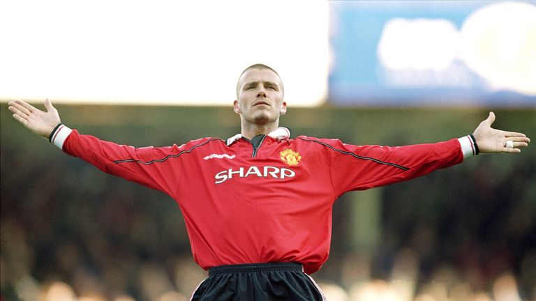 David Beckham was a key figure at Man Utd when they went on an 11-game winning run in 1999/2000
