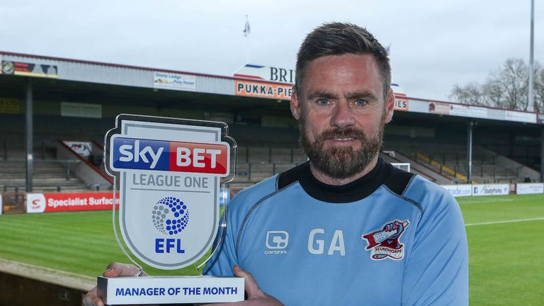 Scunthorpe's Graham Alexander was crowned League One Manager of the Month