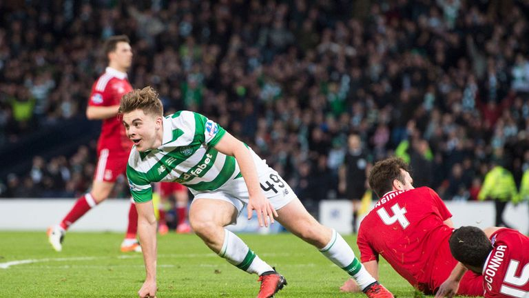 Celtic beat Aberdeen 3-0 in their last Scottish League Cup final meeting in November 2016