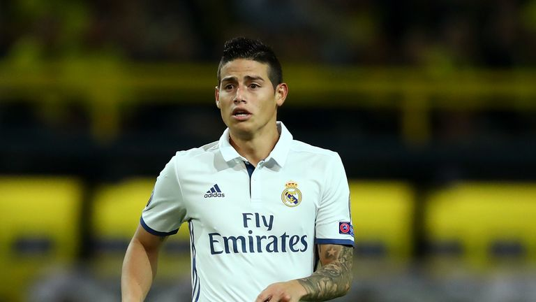 James Rodriguez could be on the move in January