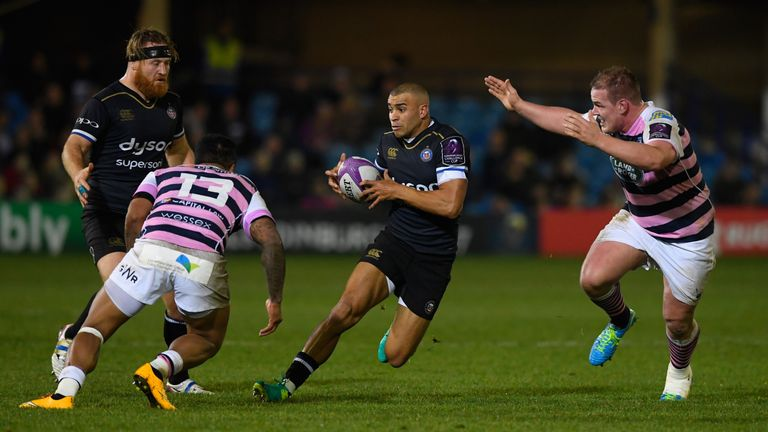 England's Jonathan Joseph was back in action for Bath