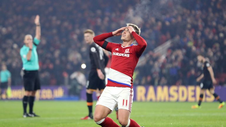 Viktor Fischer did not make the desired impact at Middlesbrough
