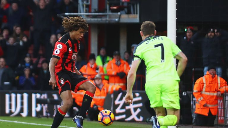 Ake scores Bournemouth's winner against Liverpool