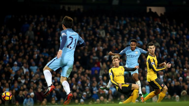 Raheem Sterling grabbed the winner for Manchester City, condemning Arsenal to second successive defeat