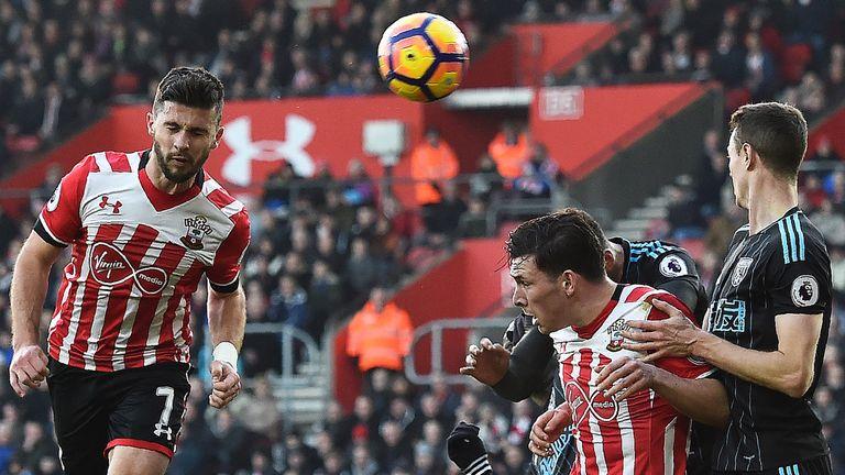 Long heads Southampton into a 1-0 lead