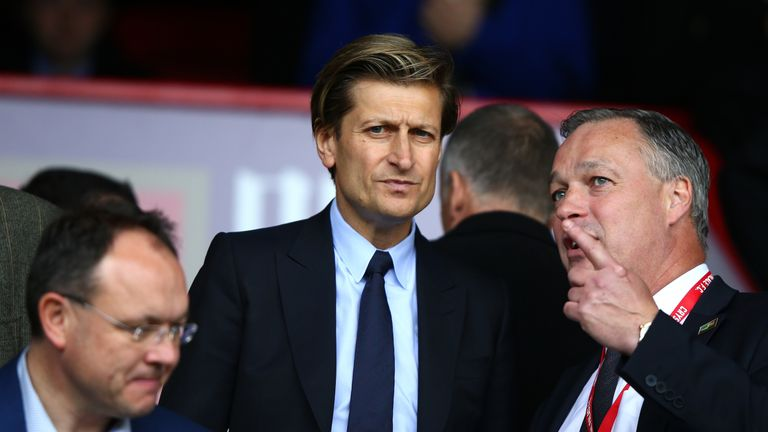 Allardyce held talks with owner Steve Parish (C) in central London on Tuesday