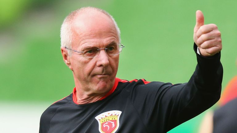 Sven-Goran Eriksson led Chinese Super League side Shanghai SIPG to third place last season