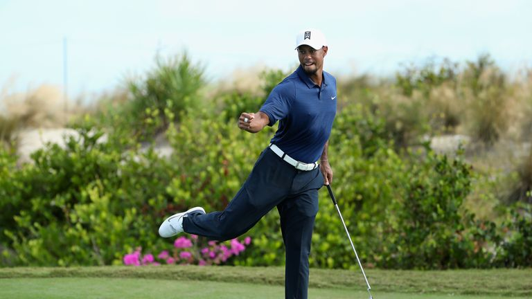 Woods was particularly impressive on the front nine in the Bahamas