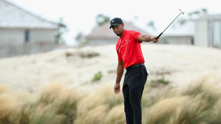 Woods led the field in birdies at the Hero World Challenge