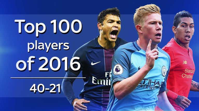 WhoScored.com Top 100 players of 2016