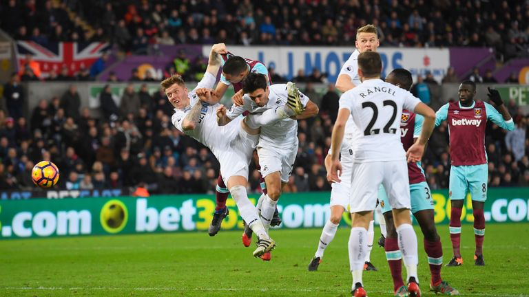 Swansea lost 4-1 at home to West Ham on Boxing Day
