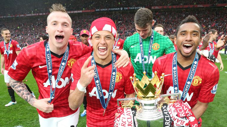 Hernandez won two Premier League titles with Manchester United