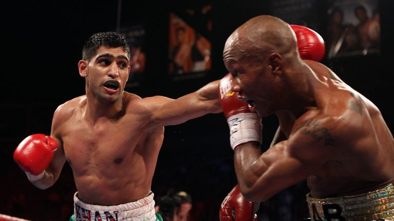 Amir Khan (left) was also included on Pacquiao's poll