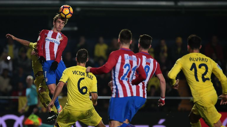 Griezmann is surprisingly strong in the air