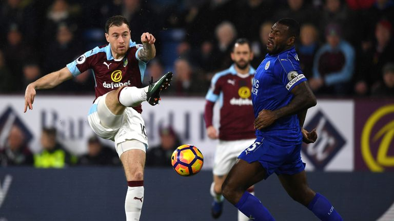 Ashley Barnes proved a handful for Leicester all evening