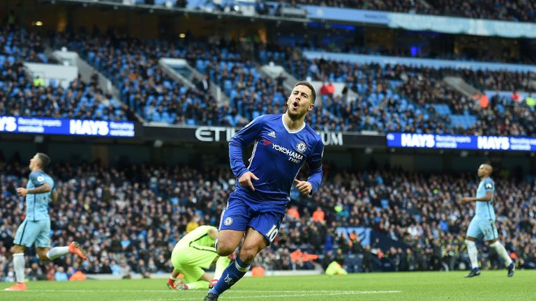 Eden Hazard finished second behind team-mate Kante