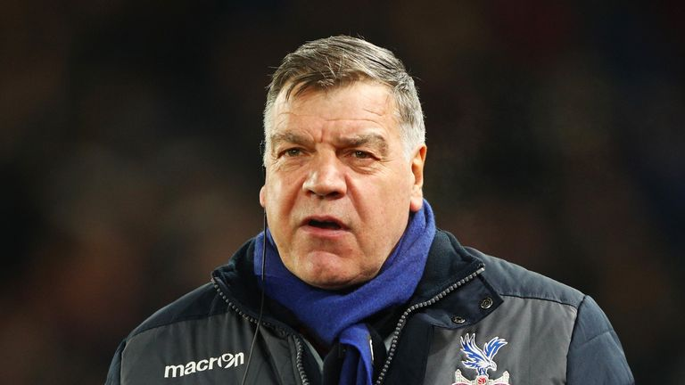 Crystal Palace manager Sam Allardyce secured his first win