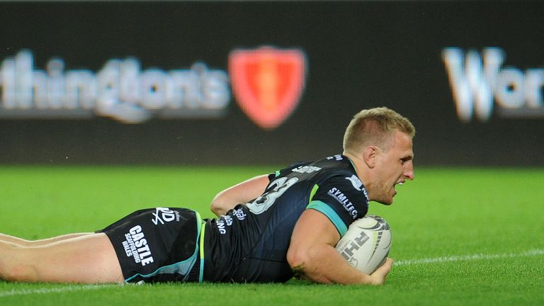 Dafydd Howells opened the scoring for Ospreys in the first minute