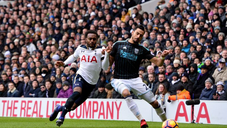 Danny Rose tangles with Nacer Chadli
