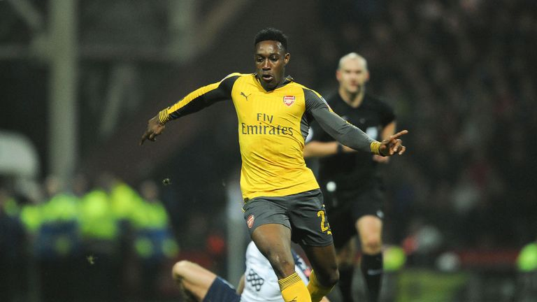 Danny Welbeck played 70 minutes for Arsenal's U23 side on Monday