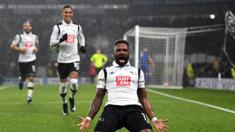 Darren Bent equalised for Derby after his own goal had given Leicester the lead