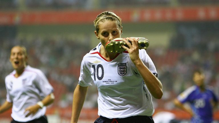 Kelly Smith earned 117 caps for England, scoring 46 times