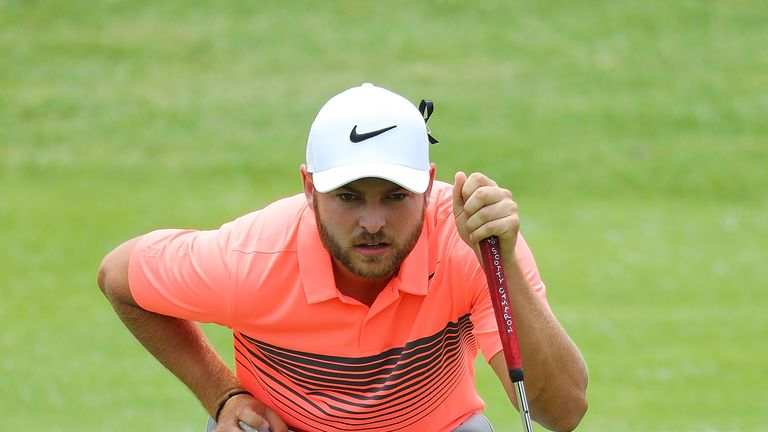 Jordan Smith didn't just find the green at the par-four 12th, with an iron, he holed the chance for eagle