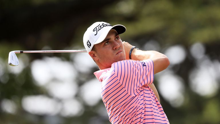 Justin Thomas moved seven shots clear at the Sony Open in Hawaii