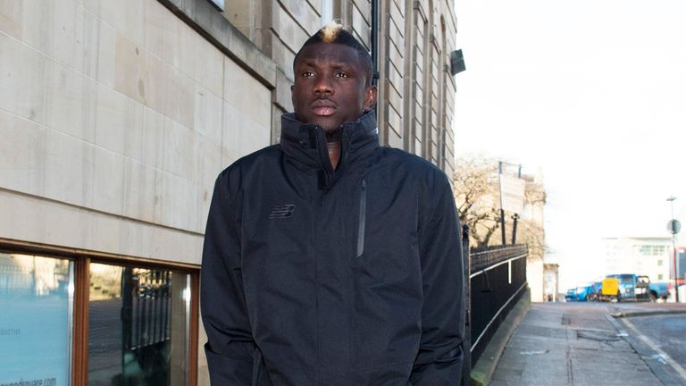 Kouassi Eboue pictured in Glasgow ahead of talks at Parkhead