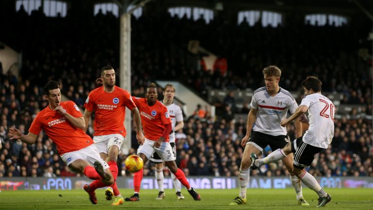 Fulham's Lucas Piazon fires home at Craven Cottage
